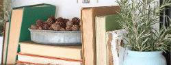 4 Simple Ways to Decorate with Books