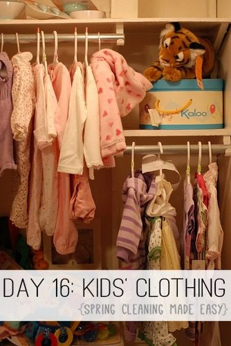 Day 16: Kids' Clothing {Spring Cleaning Made Easy} at lifeyourway.net