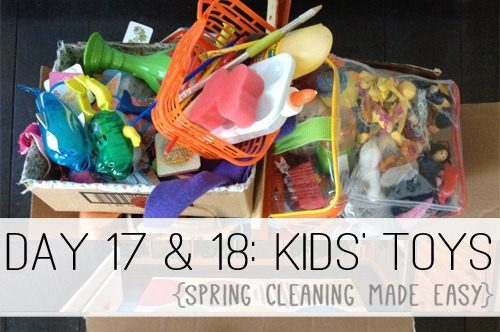 Day 17: Kids' Toys {Spring Cleaning Made Easy} at lifeyourway.net