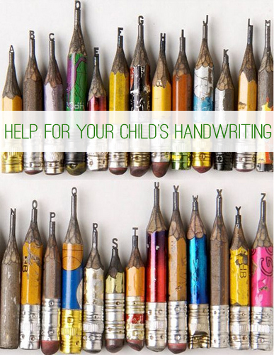 Help for Your Child's Handwriting {Homework Helps} at lifeyourway.net