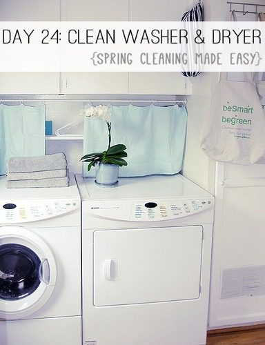 Day 25: Clean Your Washer & Dryer {Spring Cleaning Made Easy} at lifeyourway.net