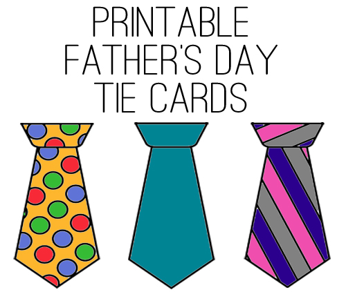 Printable Father's Day Tie Cards at lifeyourway.net
