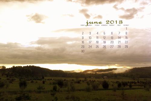 June 2013 Desktop Calendar
