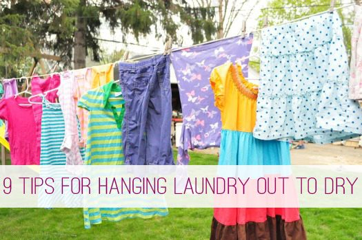 9 Tips For Hanging Out Laundry On The Clothesline Life Your Way
