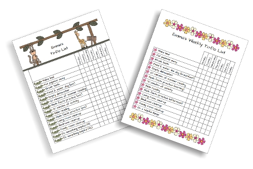 Printable To-Do Checklist for Kids at lifeyourway.net