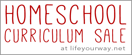 Homeschool Curriculum Sale