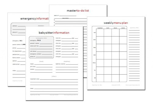 Home Management Notebook Printables at lifeyourway.net