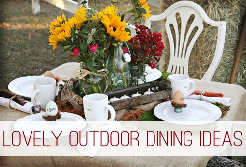 Lovely Outdoor Dining Ideas at lifeyourway.net