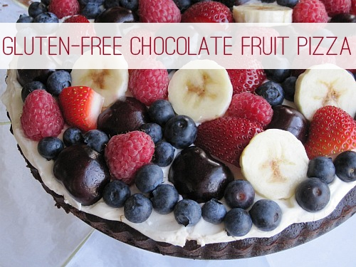 Simple Chocolate Fruit Pizza at lifeyourway.net