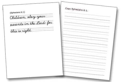 Classical Conversations Bible Notebooking Printables