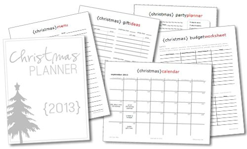 101 Days of Christmas: 2013 Printable Christmas Planner