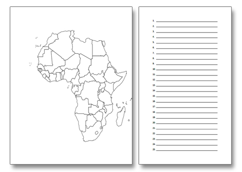 Classical Conversations Geography Notebooking Printables