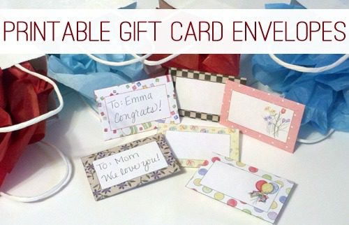 FREE Printable Gift Card Envelopes at lifeyourway.net