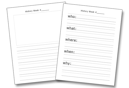 Classical Conversations History Notebooking Printables