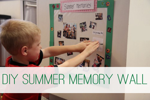 DIY Summer Memory Wall for Kids