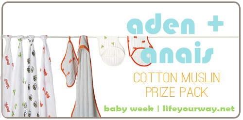 Aden + Anais Giveaway {Baby Week at lifeyourway.net}