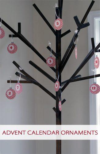 101 Days of Christmas: Printable Advent Calendar Ornaments