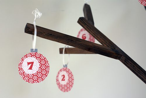 Printable Advent Calendar Ornaments {101 Days of Christmas at lifeyourway.net}