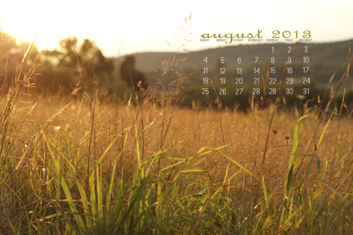 August Desktop Calendar at lifeyourway.net