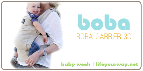 Boba Carrier 3G {Baby Week at lifeyourway.net}