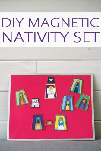 DIY Magnetic Nativity Set {101 Days of Christmas at lifeyourway.net}