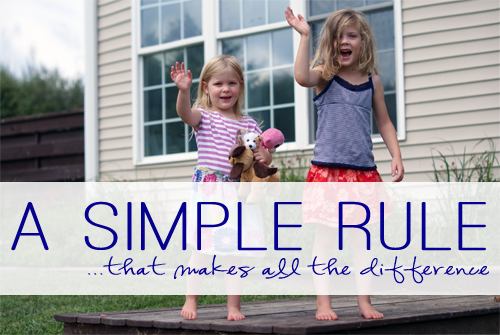 A Simple Rule {That Makes All the Difference} at lifeyourway.net