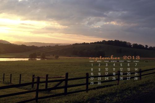 September 2013 Desktop Calendar at lifeyourway.net