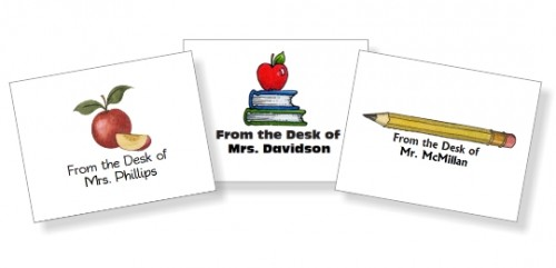 Personalized Teacher Note Cards at lifeyourway.net
