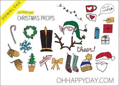 101 Days of Christmas: Printable Photo Booth Props {Roundup ...