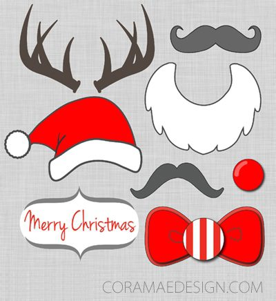 101 days of christmas printable photo booth props for Photo booth props template free download