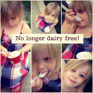 Nursing babies and dairy intolerances
