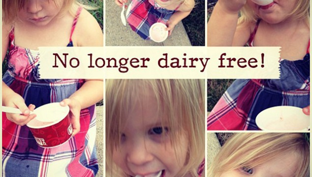 Nursing babies and dairy intolerances