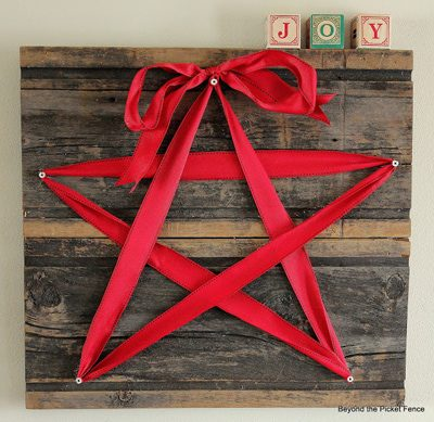 Rustic Ribbon Star {Handmade Decor Roundup at lifeyourway.net}