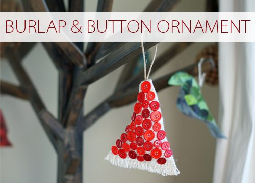 Burlap & Button Ornaments {101 Days of Christmas at lifeyourway.net}