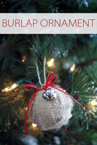 Burlap Wrapped Ornament {101 Days of Christmas at lifeyourway.net}