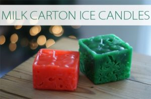 101 Days of Christmas: Milk Carton Ice Candles