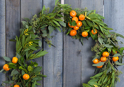 Winter Citrus Wreath  {DIY Wreath Roundup at lifeyourway.net}