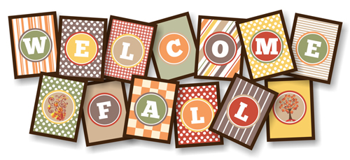 Welcome Fall Printable Banner at lifeyourway.net