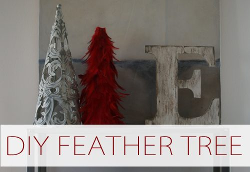 DIY Feather Tree {101 Days of Christmas at lifeyourway.net}