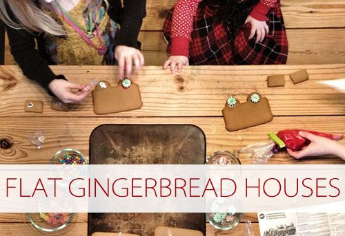 101 Days of Christmas: Flat Gingerbread Houses