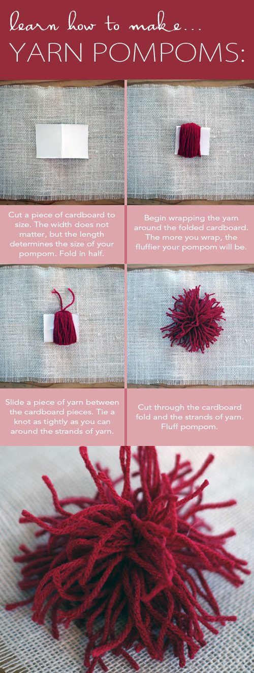How to Make Yarn Pompoms {101 Days of Christmas at lifeyourway.net}