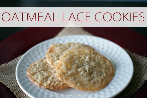101 Days of Christmas: Oatmeal Lace Cookies | Life Your Way