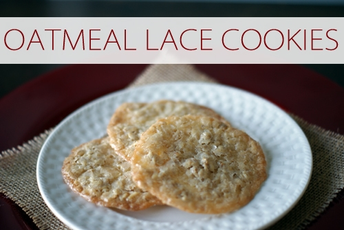 101 Days of Christmas: Oatmeal Lace Cookies