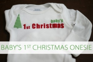 101 Days of Christmas: Baby's 1st Christmas Onesie