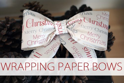 Wrapping Paper Bows {101 Days of Christmas at lifeyourway.net}