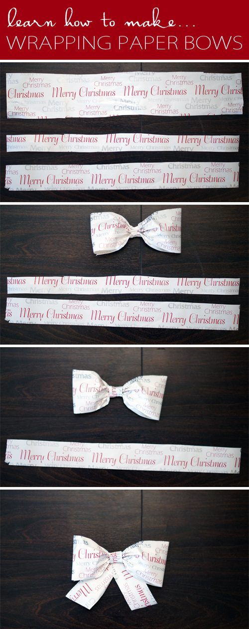 How to Make Wrapping Paper Bows {101 Days of Christmas at lifeyourway.net}