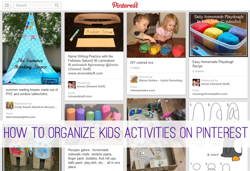 How to Organize Kids Activiities on Pinterest at lifeyourway.net