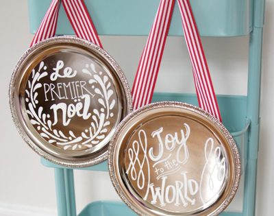 DIY Holiday Plaques {Handmade Decor Roundup at lifeyourway.net}
