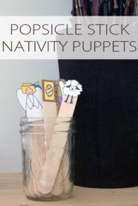 101 Days of Christmas: Popsicle Stick Nativity Puppets