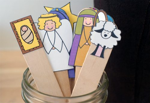 Christmas Craft Printables To Cut And Glue